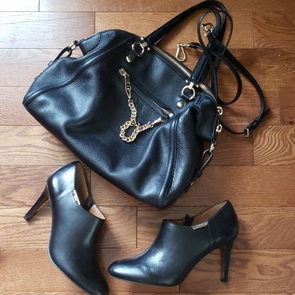 Coach Shoes - COACH leather black bootie. Size 9.5